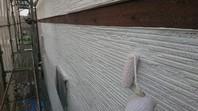 那珂市 K様邸 外壁塗装(下塗り)