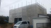 東海村 M様邸 外壁塗装(架設足場組立)