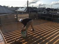 ひたちなか市 S様邸 屋根塗装(上塗り)