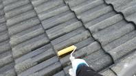 東海村 I様邸 屋根塗装(下塗り・中塗り・上塗り)