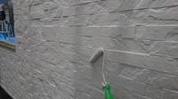 那珂市 O様邸 外壁塗装(中塗り・上塗り)