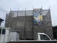 那珂市 O様邸 屋根・外壁塗装(架設足場組立)