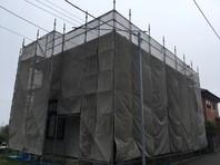 ひたちなか市 S様邸 屋根・外壁塗装(架設足場組立)