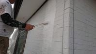 那珂市 O様邸 外壁塗装(下塗り)