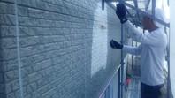 東海村 M様邸 外壁塗装(下塗り)