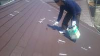 上三川町 M様邸 屋根塗装(上塗り)