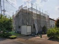 上三川町 M様邸 屋根・外壁塗装(架設足場組立)