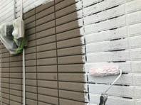 東海村 H様邸 外壁塗装(下塗り)