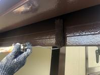 東海村 H様邸 破風塗装 (ケレン・下塗り・中塗り・上塗り)