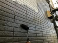東海村 H様邸 外壁塗装(中塗り・上塗り)