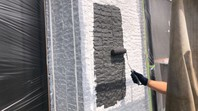 城里町 K様邸 外壁塗装(中塗り・上塗り)