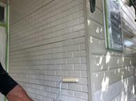 常陸太田市 U様邸 外壁塗装(下塗り)