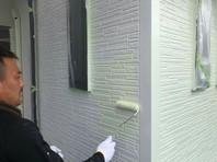 東海村 R様邸 外壁塗装(上塗り)