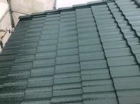 東海村 R様邸 屋根塗装(上塗り)