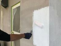 城里町 O様邸 外壁塗装(下塗り)