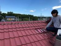 東海村 R様邸 屋根塗装(下塗り・中塗り)