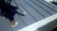 ひたちなか市 N様邸 屋根塗装(上塗り)