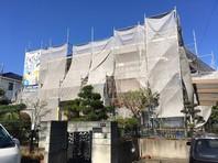 笠間市 Y様邸 外壁塗装(架設足場組立)