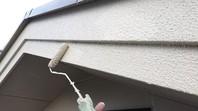 益子町 M様邸 破風塗装(下塗り・中塗り・上塗り)