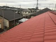 宇都宮市 I様邸 屋根塗装(上塗り)