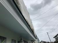 東海村 R様邸 破風塗装(ケレン・下塗り・中塗り・上塗り)