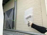 東海村 R様邸 外壁塗装(下塗り・中塗り)