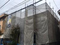ひたちなか市 K様邸 外壁塗装(架設足場組立)