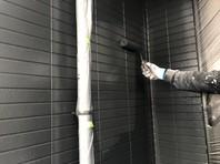 ひたちなか市 K様邸 外壁塗装(上塗り)