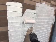 ひたちなか市 K様邸 外壁塗装(下塗り・中塗り)