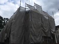 笠間市 S様邸 屋根・外壁塗装(架設足場組立)
