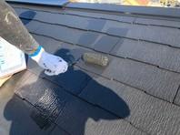 日立市 S様邸 屋根塗装(上塗り)
