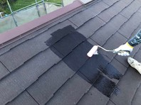 日立市 S様邸 屋根塗装(下塗り・中塗り)