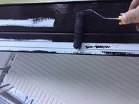 日立市 S様邸 破風塗装(ケレン・下塗り・中塗り・上塗り)