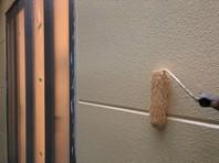 上三川町 S様邸 外壁塗装(中塗り・上塗り)