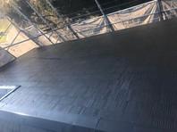 ひたちなか市 H様邸 屋根塗装(中塗り・上塗り)