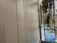 城里町 A様邸 外壁塗装(中塗り・上塗り)