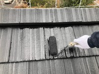 水戸市 A様邸 屋根塗装(上塗り)