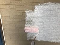 水戸市 A様邸 外壁塗装(下塗り)