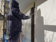 城里町 S様邸 外壁塗装(中塗り・上塗り)