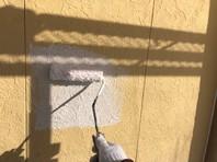 石岡市 I様邸 外壁塗装(下塗り)