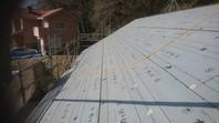 城里町 O様邸 屋根カバー工法(棟板金撤去・防水紙張り込み)