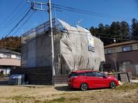 城里町 K様邸 外壁塗装・屋根カバー工法(架設足場組立)