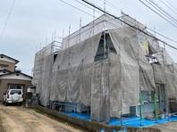 東海村 Y様邸 屋根・外壁塗装(架設足場組立)