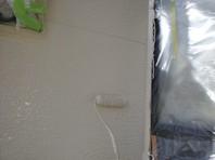 城里町 O様邸 外壁塗装(下塗り・中塗り)