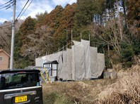 城里町 O様邸 外壁塗装・屋根カバー工法(架設足場組立)