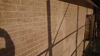 城里町 N様邸 外壁塗装(下塗り)