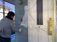 東海村 Y様邸 外壁塗装(下塗り・中塗り)