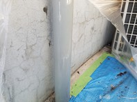 ひたちなか市 K会館 樋塗装(ケレン・下塗り・中塗り・上塗り)