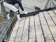 宇都宮市 Kアパート 屋根塗装(中塗り・上塗り)