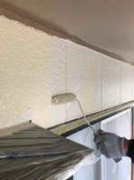 日立市 O様邸 外壁塗装(上塗り)